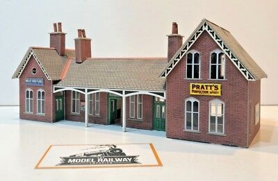 00 Gauge Suit Hornby Metcalfe Kit Built Red Brick Large Country Station - Bv