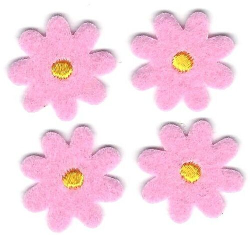 """Lot 4 0.75/"""" Pink Felt Flower Embroidery patch"""