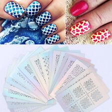 24 Sheet Nail Art Transfer Sticker 3D Design Manicure Tips Decal Decoration Tool