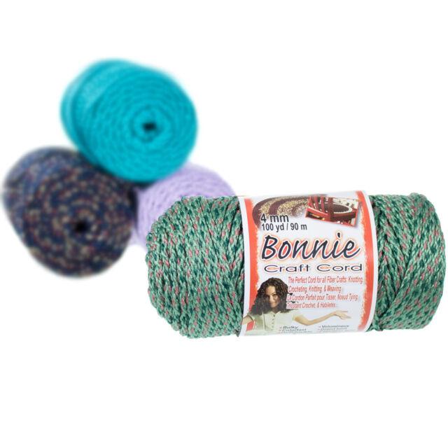 Brown Pepperell 6mm Bonnie Macram/é Craft Cord 100-Yard