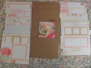 Websters-Pages-Mini-Chipboard-Album-Kit-with-Resin-Embelishments-New-99p