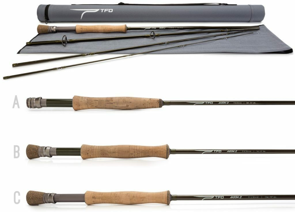 Temple Fork 8 wt. 9'0  4 pc. Axiom 2  Rod w Case  factory outlets