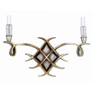 Art-Deco-style-par-Jules-Leleu-bronze-avec-cristal-de-roche-pierre-poli-paire