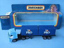 Matchbox Convoy DAF P&O contenedor Camión Modelo de juguete Envío 155mm base tailandés