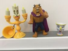 Disney Beauty and the Beast Figures Loose Toys McDonalds 2002 LOT of 3