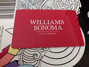 100-WILLIAMS-SONOMA-GIFT-CARD-CERTIFICATE-VOUCHER