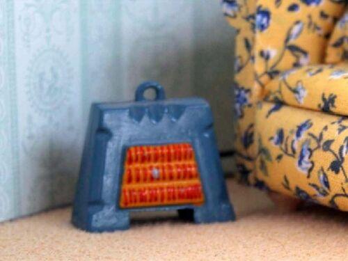 Fuego eléctrico azul no en funcionamiento muñeca casa miniatura Dollshouse Accesorio