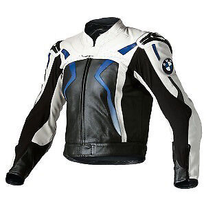 Men BMW Motorcycle Sports Leather Jacket Motorbike Racing Biker Leather Jacket