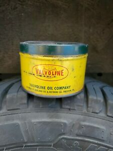 Vintage Valvoline 1 lb Metal Wheel Bearing Grease Can
