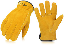 New Listingvgo Cowhide Split Leather Work And Driver Gloves For Heavy Duty