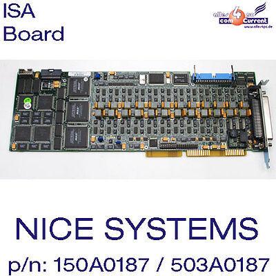 Nice Systems Ltd. Isa Scheda Nati Board P/n: 150a0187-03, Assy: 503a0187-2h 50pol- Essere Accorti In Materia Di Denaro