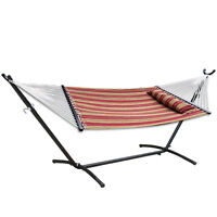 2 Person Portable Hammock With Stand Outdoor Patio Camping Beach Yard DURABLE