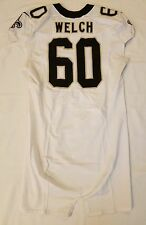 #60 Thomas Welch Authentic Nike Game Worn Jersey from New Orleans Saints