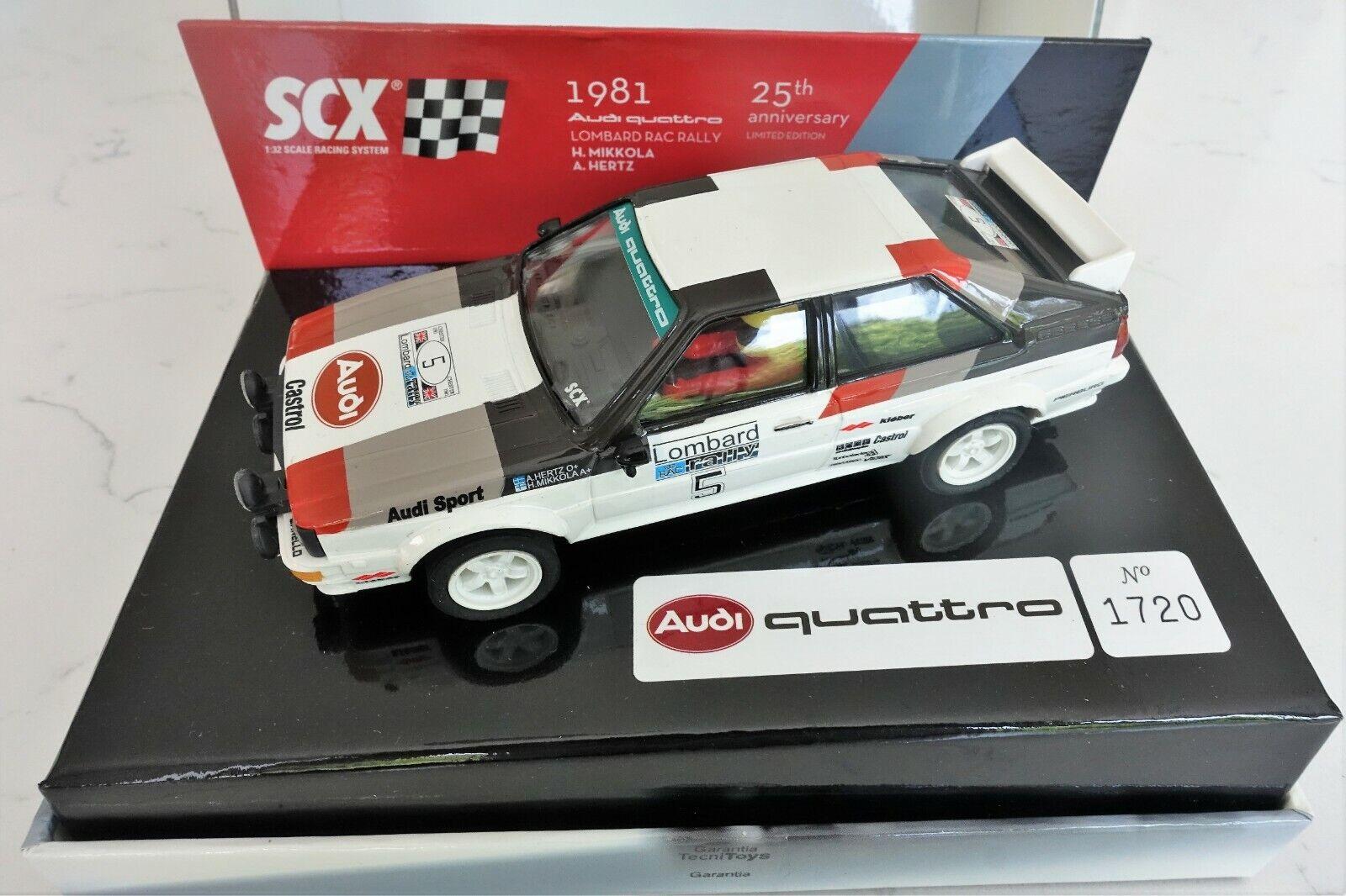 Scx 62330 Audi Quattro 1981 Lombard RAC Rally Ltd Edition Mikkola-Hertz Nuevo Y En Caja