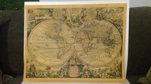 Nystrom Pull Down World Map /& Usa School Vtg Classroom 2 In 1 Map 65W x 55H