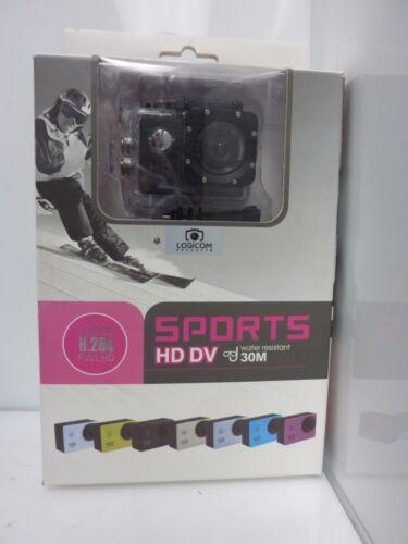 Logicom Mini Sports HD DV Water Resistant Action Camera - Black