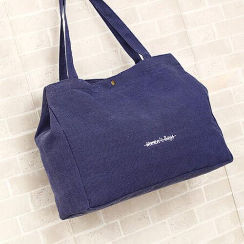 Fashion Women Girls Canvas Shopping Handbag Shoulder Large Tote Casual Beach Bag