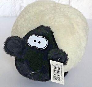 Richard Lang Pecora Agnello Animale da azienda Nero Bianco Peluche giocattolo morbido peluche nuovo regalo