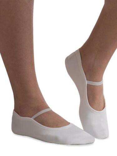 Adult Size 6 NEW GK Elite GK21 White Suede Sole Gymnastics Dance Slippers