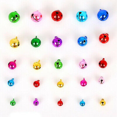 100x 14mm Gold XMAS Jingle Bell Christmas Decor Pet Bell Charms Craft Sewing