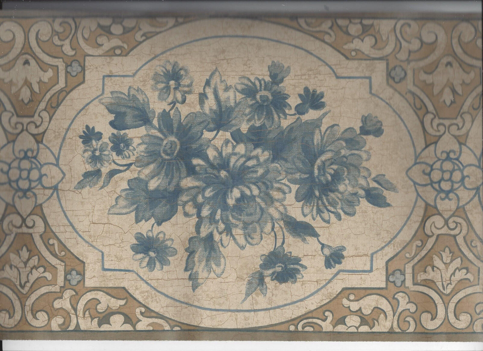 Traditional Floral Border Victorian Style Place Royalty Free