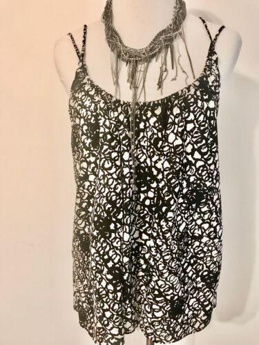 Balenciaga Black and White Silk Multi Strap Camiso
