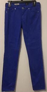 AG ADRIANO GOLDSCHMIED Blue The Stilt Cigarette Leg Skinny Jeans Sz 27R
