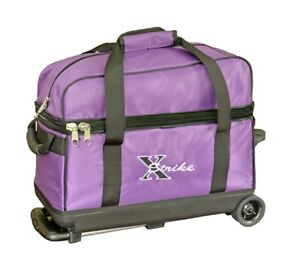 NEW-XSTRIKE-2-BALL-ROLLER-BOWLING-BAG-PURPLE-SPECIAL-SALE-PRICE-47-95