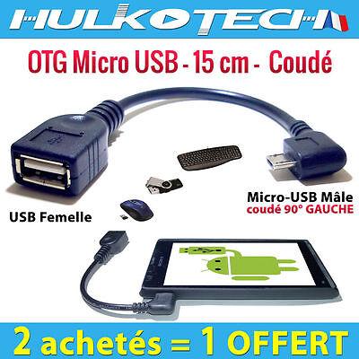 Affidabile Cable Adaptateur Micro Usb Otg Host Coudé Pour Sony Xperia U / V / Z / Z Ultra