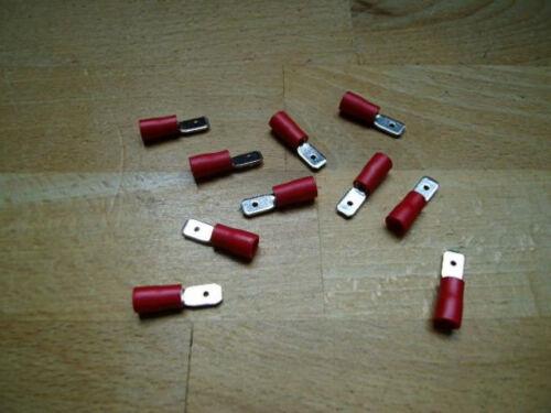 cavo Scarpe 50 connettore maschio fastom rosso connettori a crimpare steckmaß 4,8 mm