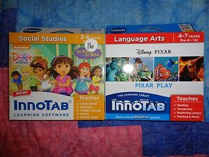 Lot-2-VTECH-INNOTAB-GAME-CARTRIDGES-Dora-and-Friends-Search-for-Mono-Pixar-Play