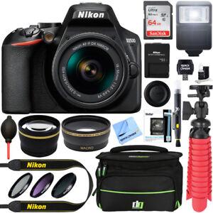 Nikon-D3500-24-2-MP-DSLR-Camera-w-AF-P-DX-18-55mm-VR-Lens-Kit-Memory-Bundle
