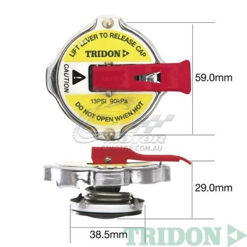 TRIDON RADIATOR CAP SAFETY LEVER FOR Ford Falcon 6 Cyl AU 08//98-09//02 6 4.0L
