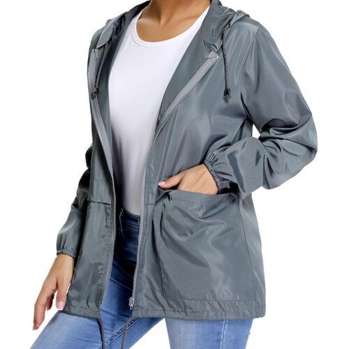US Waterproof Windbreaker Hooded Jacket Hiking Walking Coat Mens Womens New M981