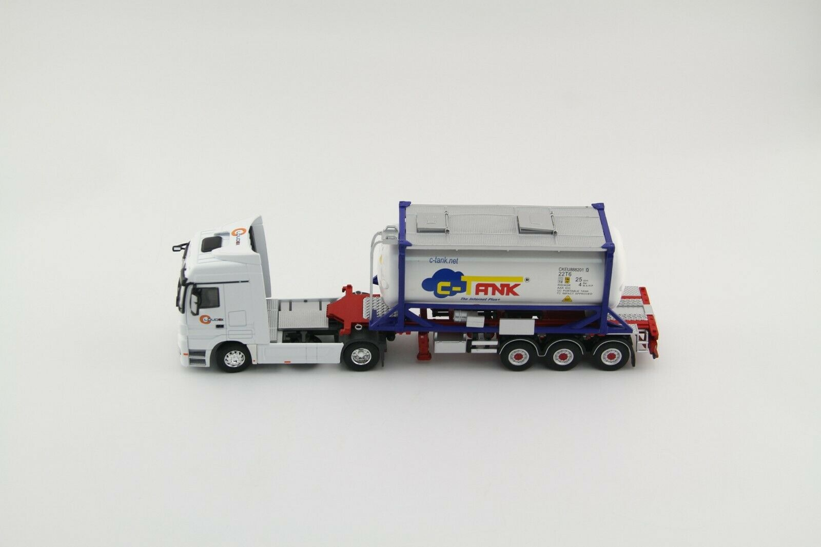 Collectible Diecast Toy Model 1 50 Loudex Oil C Tank Container Truck Vehicles