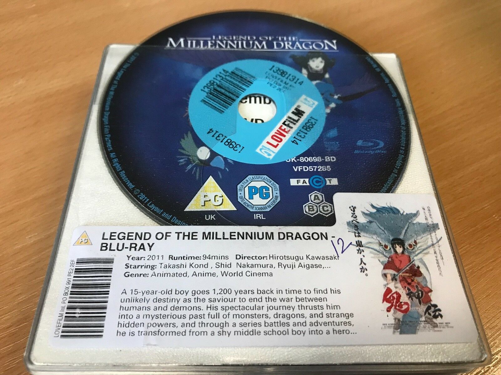 Legend Of The Millennium Dragon (Blu-ray, 2011)