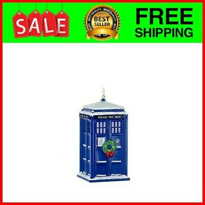 Doctor Who Tardis With Wreath Light-Up Christmas Ornament ...