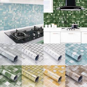 Kitchen Waterproof Oil Proof Stickers Aluminum Foil Self Adhesive Wall Sticker Ebay