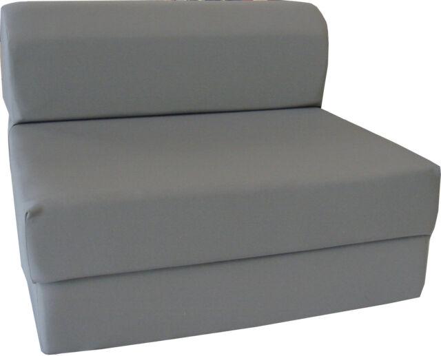 Gray 6 X 36 X 70 Twin Sleeper Chair Folding Foam Bed Foam Density