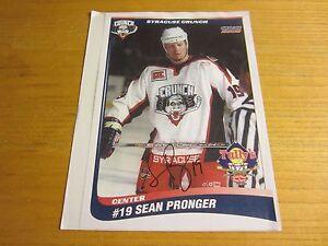 Sean-Pronger-Autographed-Signed-8-5X11-Photo-AHL-Hockey-Syracuse-Crunch