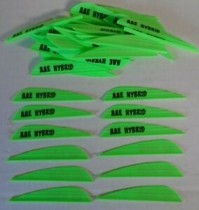 "Aae Hybrid 26 2.7"" Brite Green Vanes Arizona Archery Arrow Fletching 100 Fletches Sporting Goods"