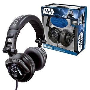 Star Wars Darth Vader Fold up Headphones. HUGE Saving