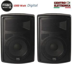 Coppia-casse-amplificate-attive-professionali-1000-Watt-Montarbo-Fiveo-D10A