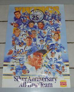 Vintage-1985-Minnesota-Vikings-Football-All-Time-Team-Poster-29-5-034-by-19-034