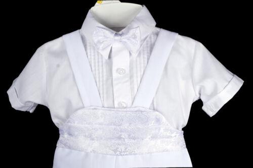 New Infant Boy /& Toddler Christening Baptism Formal Tuxedo Suit New Born 0M-3T