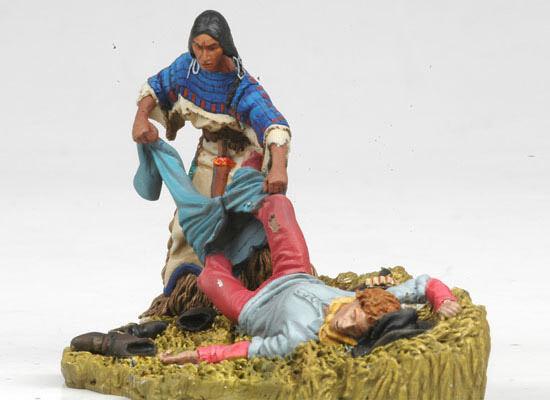 svartHawk  BH0113, Västern, Custer s sista stand- Squaw som plundrar kavallerimannen.
