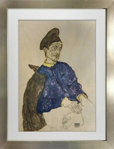 "Egon SCHIELE Lithograph SIGNED ""Russian Prisoner Of War"" #'ed Limited Ed: 100"