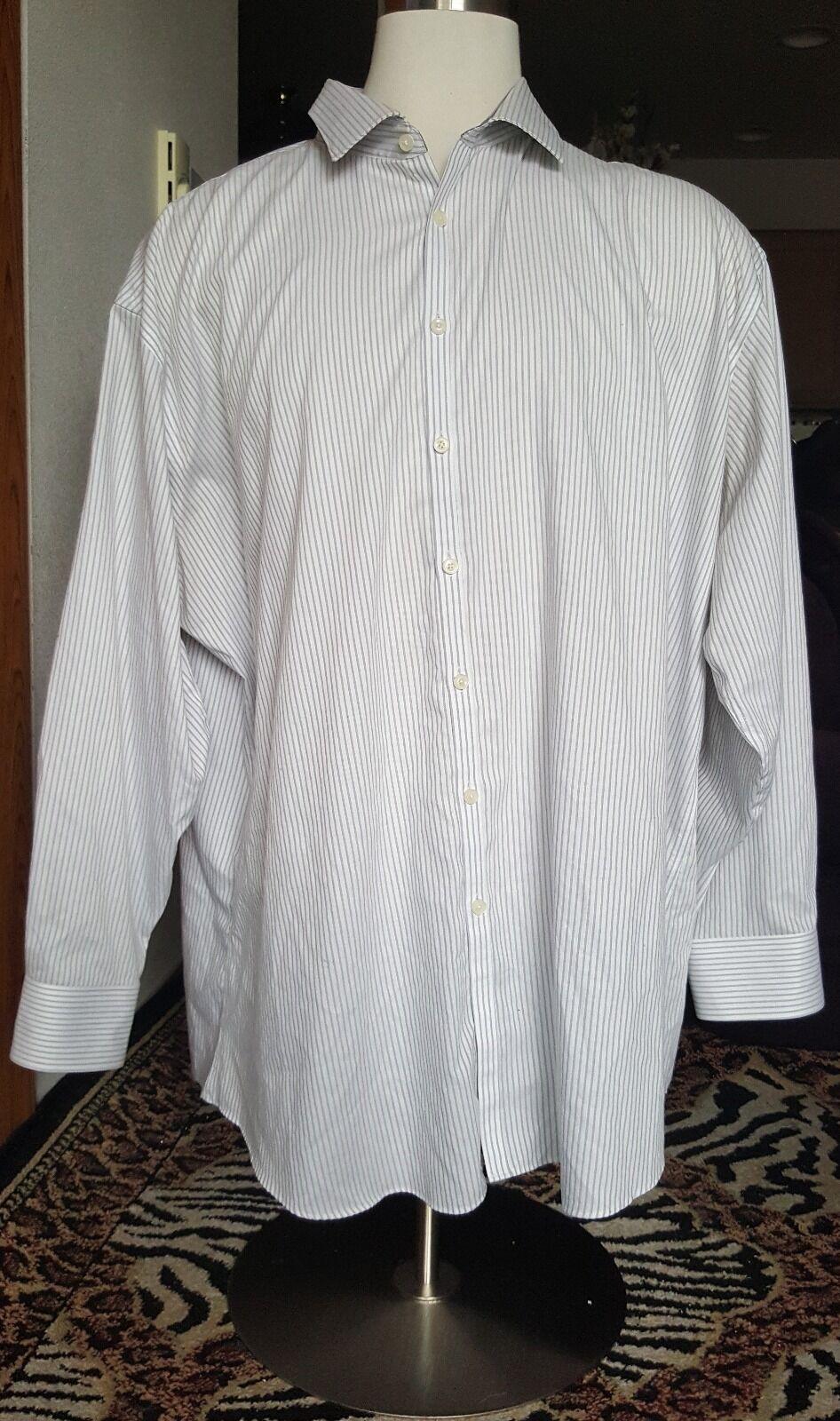 Jhane Barnes Long Sleeve Button Front männer hemd Tall 20 36 37 Slim Fit