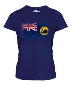 Vaquero Australia Bandera Apenada Blusa para Dama Australiano Camiseta