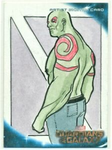 "2014 MARVEL GUARDIANS OF THE GALAXY "" DRAX "" SKETCH CARD by Cassio Batista"